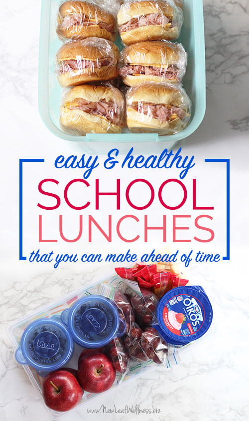 Make Ahead Healthy Lunches  Easy & Healthy School Lunches You Can Make Ahead of Time