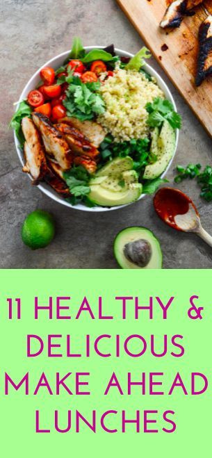 Make Ahead Healthy Lunches  11 easy make ahead lunch recipes