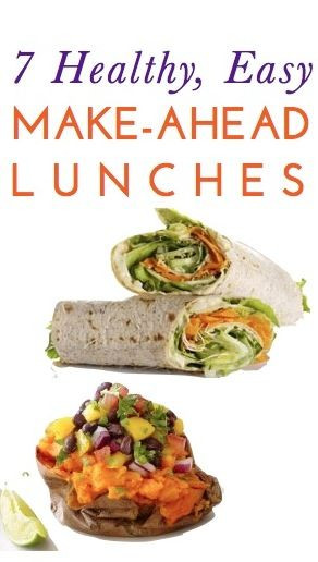 Make Ahead Healthy Lunches  7 healthy cheap & easy lunch ideas you can make ahead