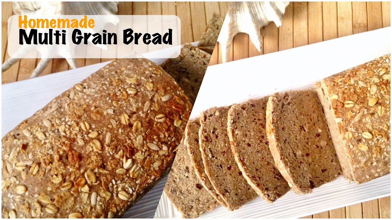 Make Healthy Bread  Homemade Multi Grain Bread Recipe