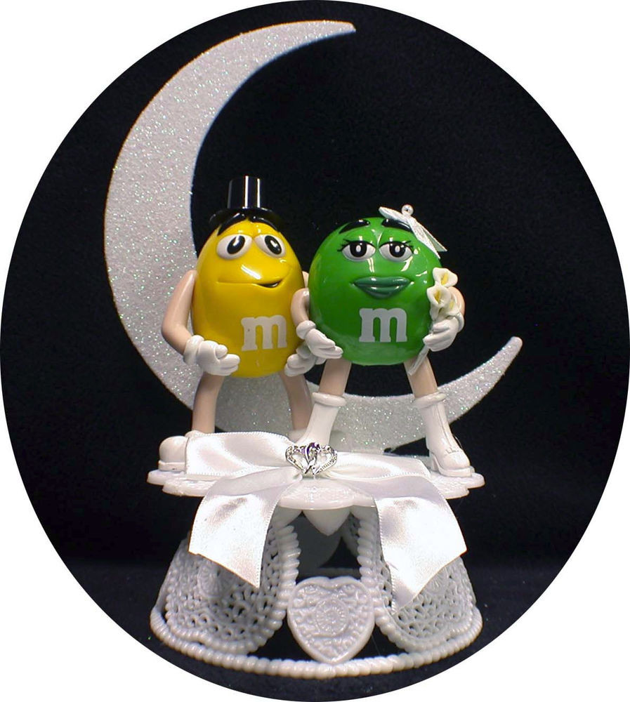 M&M Wedding Cakes  M & M Candy Wedding Cake Topper Mr Your Pick Groom Mrs