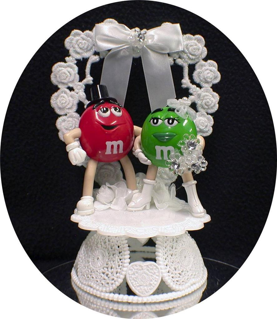 M&m Wedding Cakes the Best Ideas for M&m M & M Candy Wedding Cake topper Lot Glasses Knife