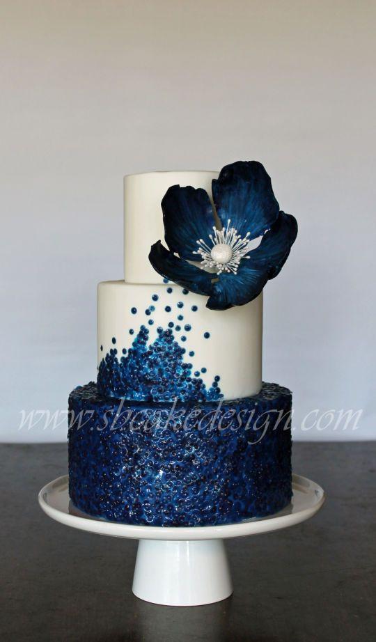 M&M Wedding Cakes  Sequin wedding Wedding and Flower on Pinterest