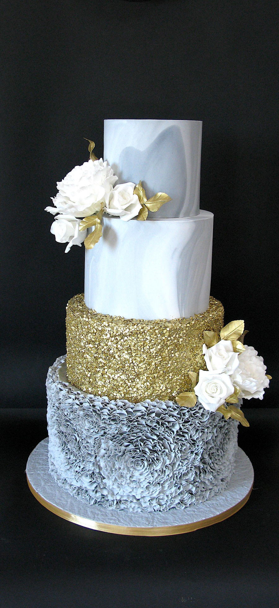 Marble Wedding Cakes  Grey Marble Wedding Cake CakeCentral