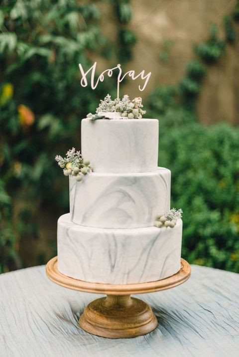 Marble Wedding Cakes  41 Edgy Marble Wedding Cakes