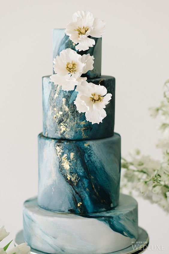 Marble Wedding Cakes  Stunning Marble Wedding Cakes for Your 2016 Wedding