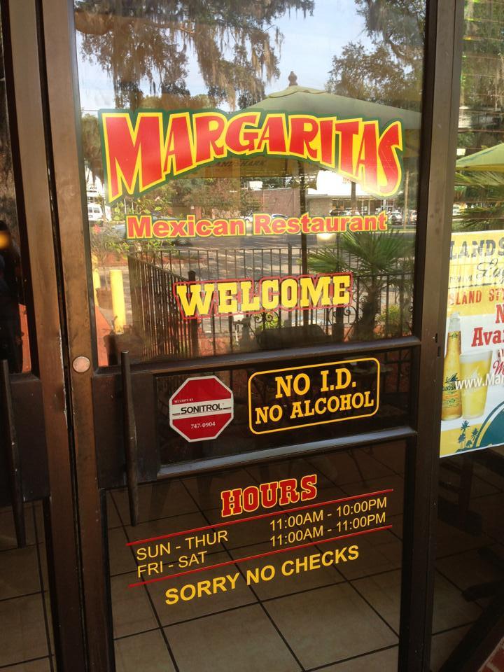 Margaritas Summerville Sc  Margaritas Storefront Window Vinyl Door Lettering