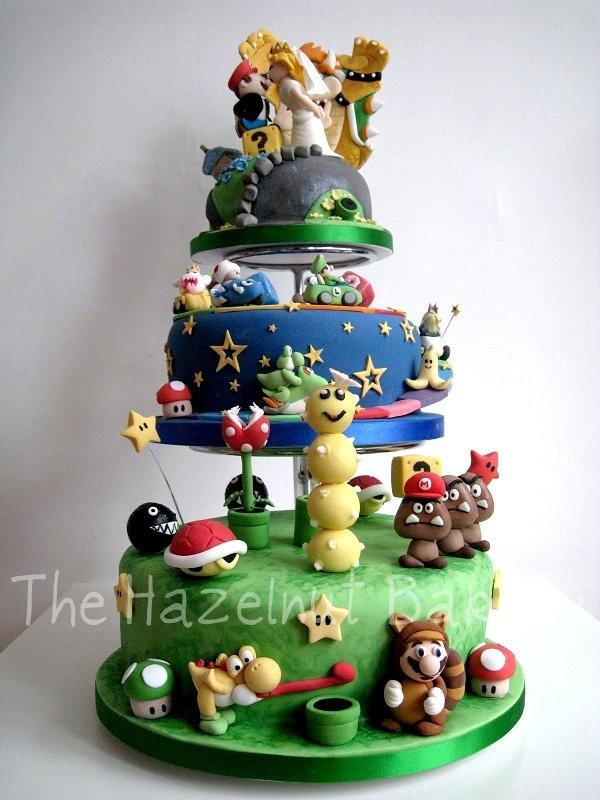 Mario Wedding Cakes  Spectacular Super Mario Wedding Cake [pics] Global Geek News