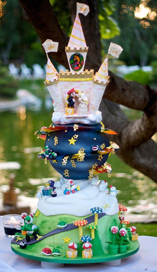 Mario Wedding Cakes  The Greatest Nintendo Cake Ever