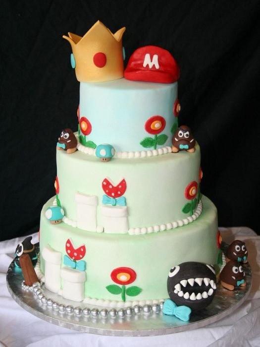 Mario Wedding Cakes  Bolos Nerds temas Games