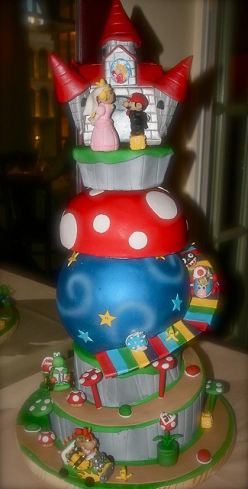 Mario Wedding Cakes  Super Mario Wedding Cakes