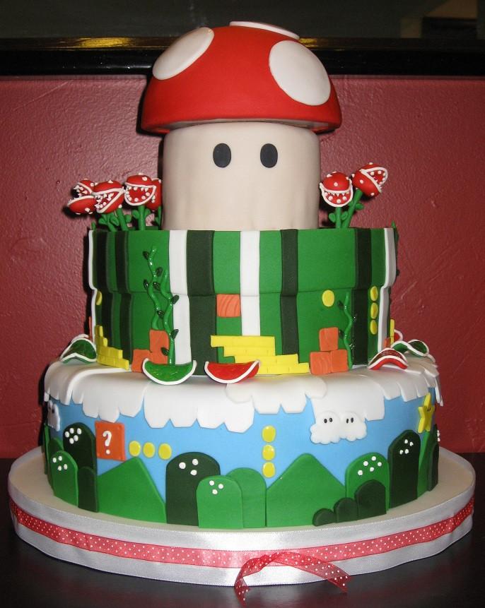 Mario Wedding Cakes  Katie s Cakes Mario Wedding Cake