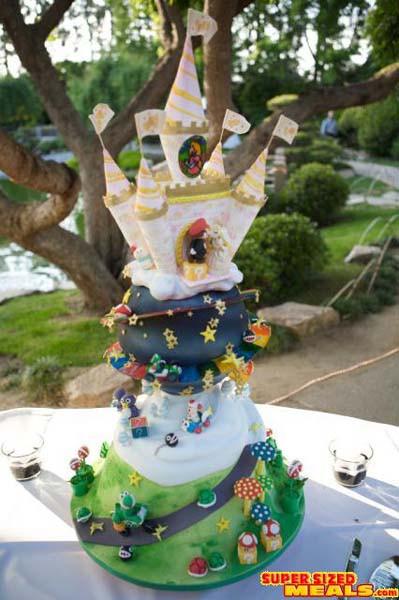 Mario Wedding Cakes  SupersizedMeals Super Mario Wedding Cake