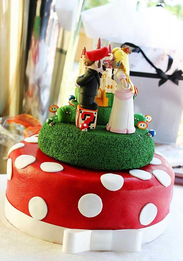 Mario Wedding Cakes  Os 25 bolos de casamento geeks O Verso do Inverso