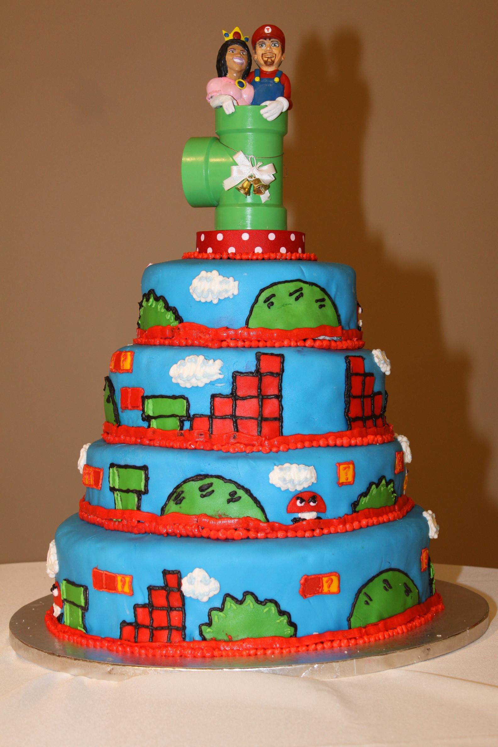 Mario Wedding Cakes  Super Mario Bros Cake