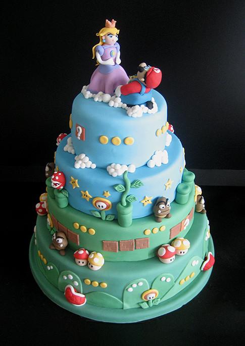 Mario Wedding Cakes  A Super Mario Bros wedding cake even Peach would love