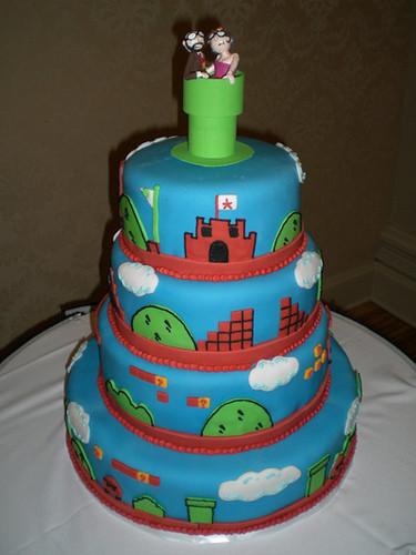 Mario Wedding Cakes  Best Mario cake EVER