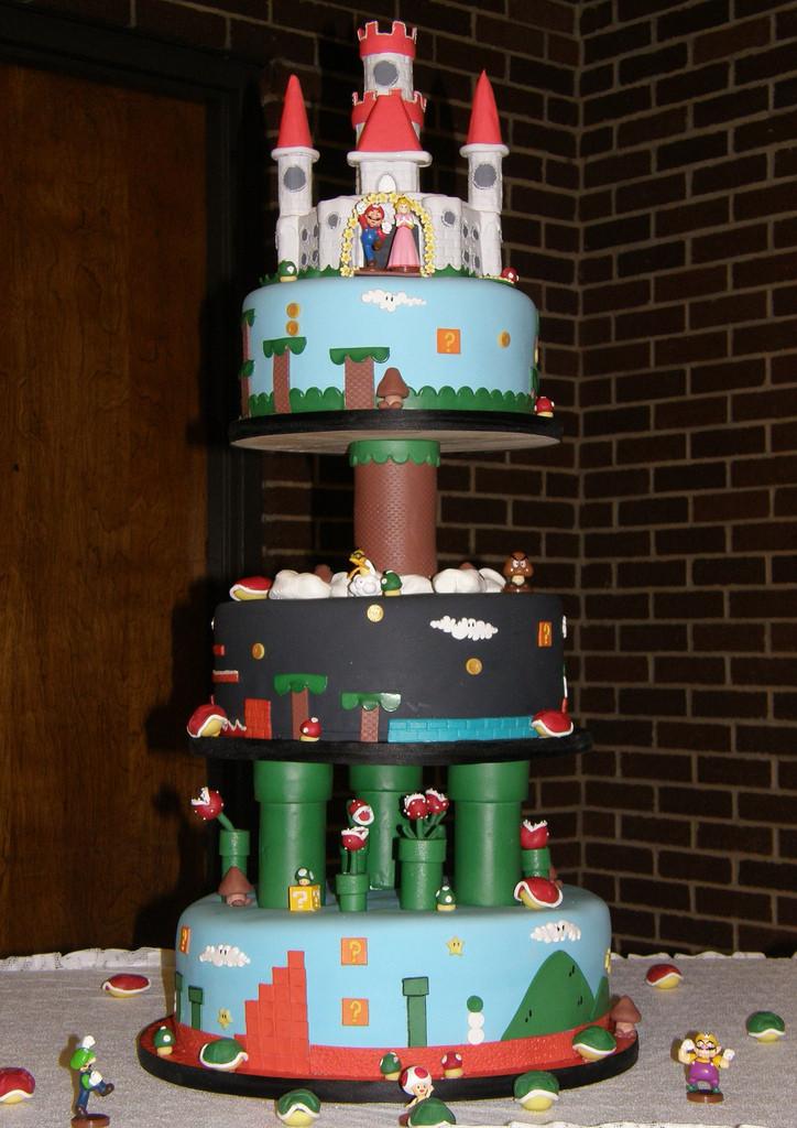 Mario Wedding Cakes  Super Mario Bros Birthday and Wedding Cakes