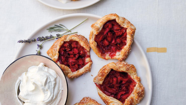 Martha Stewart Easter Desserts  Mini Strawberry Rhubarb Galettes Recipe from Martha