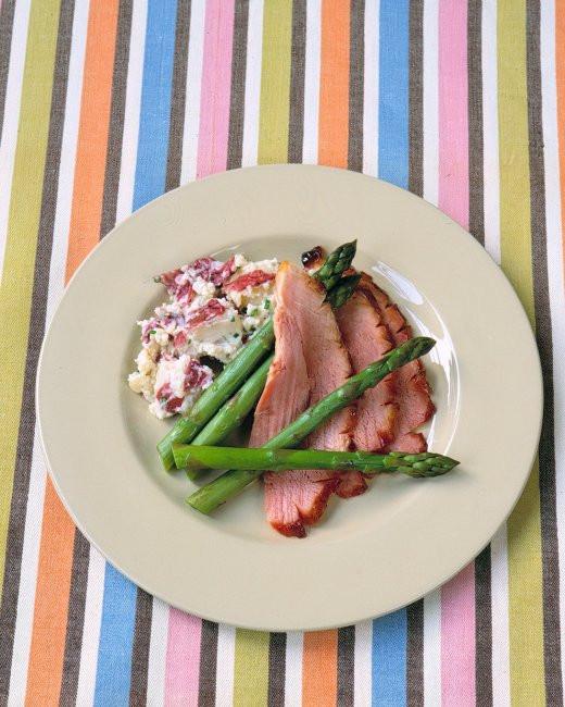 Martha Stewart Easter Dinner Menu  Bourbon Glazed Ham Recipe