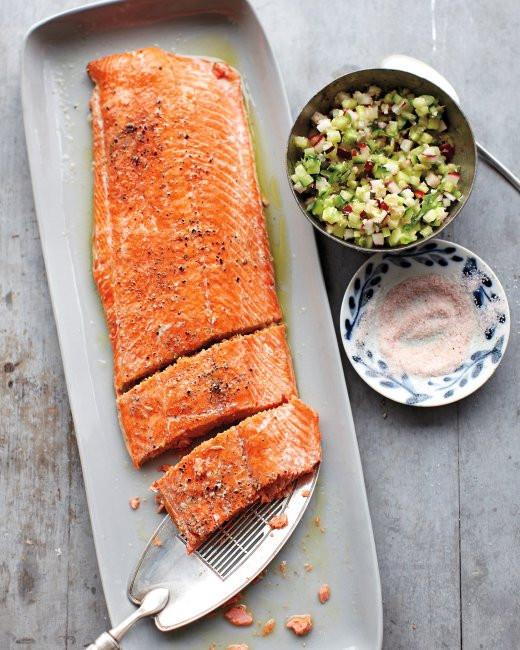 Martha Stewart Easter Dinner Menu  Salmon with Cucumber Radish Relish Recipe