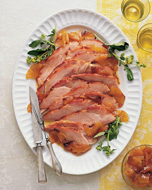 Martha Stewart Easter Dinner Menu  Pineapple Mustard Glazed Ham Recipe