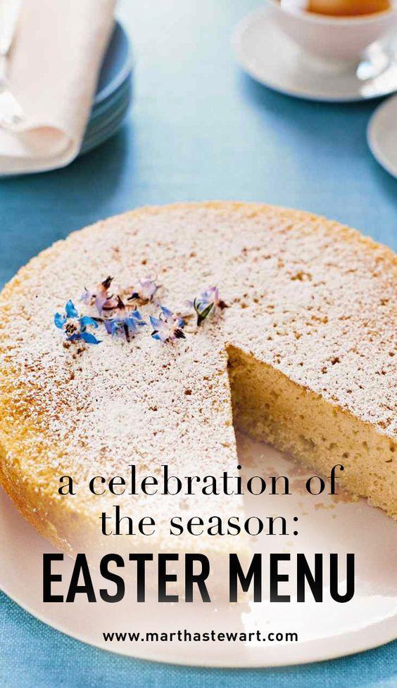 Martha Stewart Easter Dinner Menu  Seasons The o jays and Celebrations on Pinterest