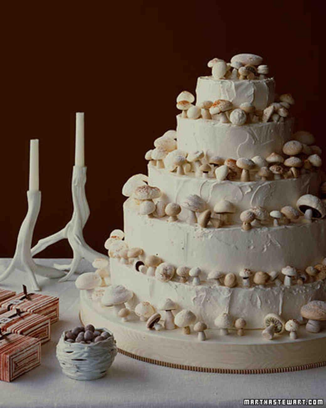 Martha Stewart Wedding Cakes  Meringue Mushrooms Wedding Cake Recipe