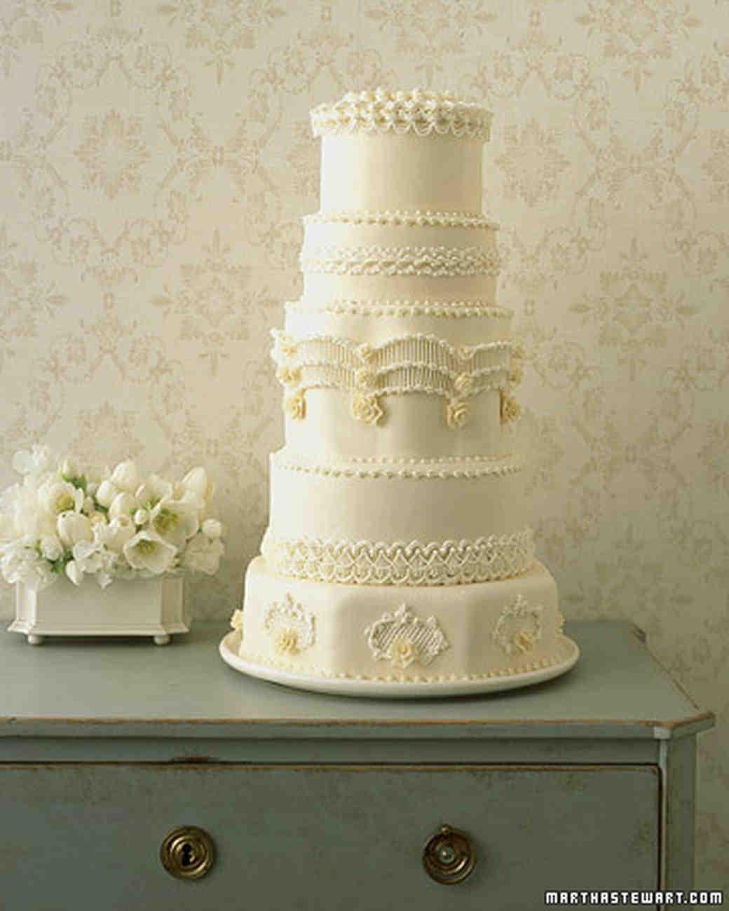 Martha Stewart Wedding Cakes  Regal Piped Wedding Cake Recipe
