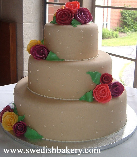 Marzipan Wedding Cakes  Swedish Bakery Chicago IL Wedding Cake