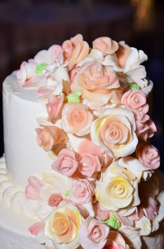 Marzipan Wedding Cakes  Our wedding cake all marzipan flowers Thank you Naomi