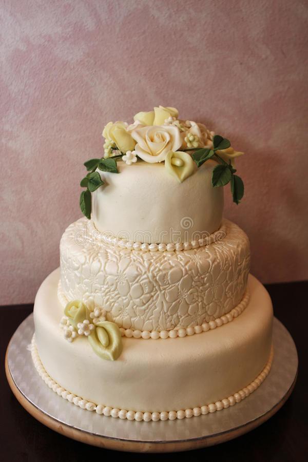 Marzipan Wedding Cakes  Wedding cake stock image Image of catering pattern