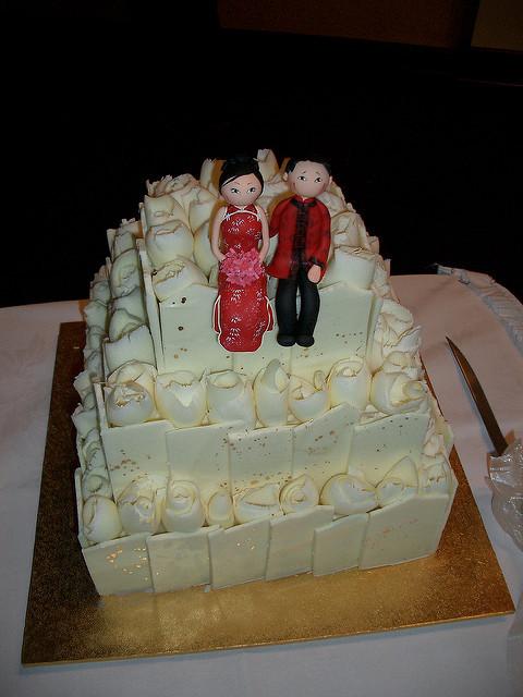 Marzipan Wedding Cakes  Amye and Mark s Wedding Cake with self designed marzipan