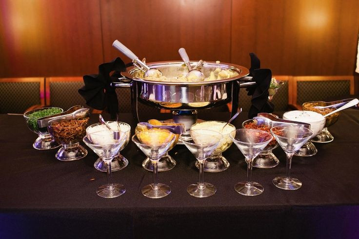 Mashed Potatoes Bar Wedding  Martini Mashed Potato Bar Ideas