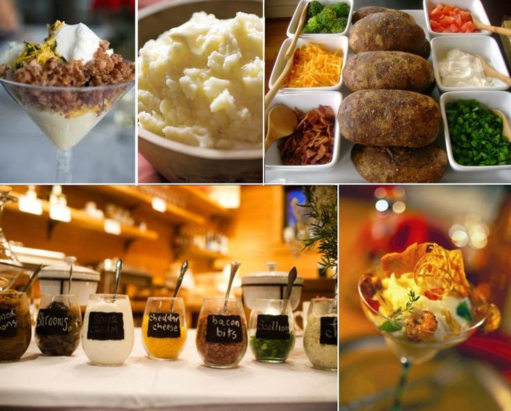 Mashed Potatoes Bar Wedding  Baked Potato Bar Recipe — Dishmaps