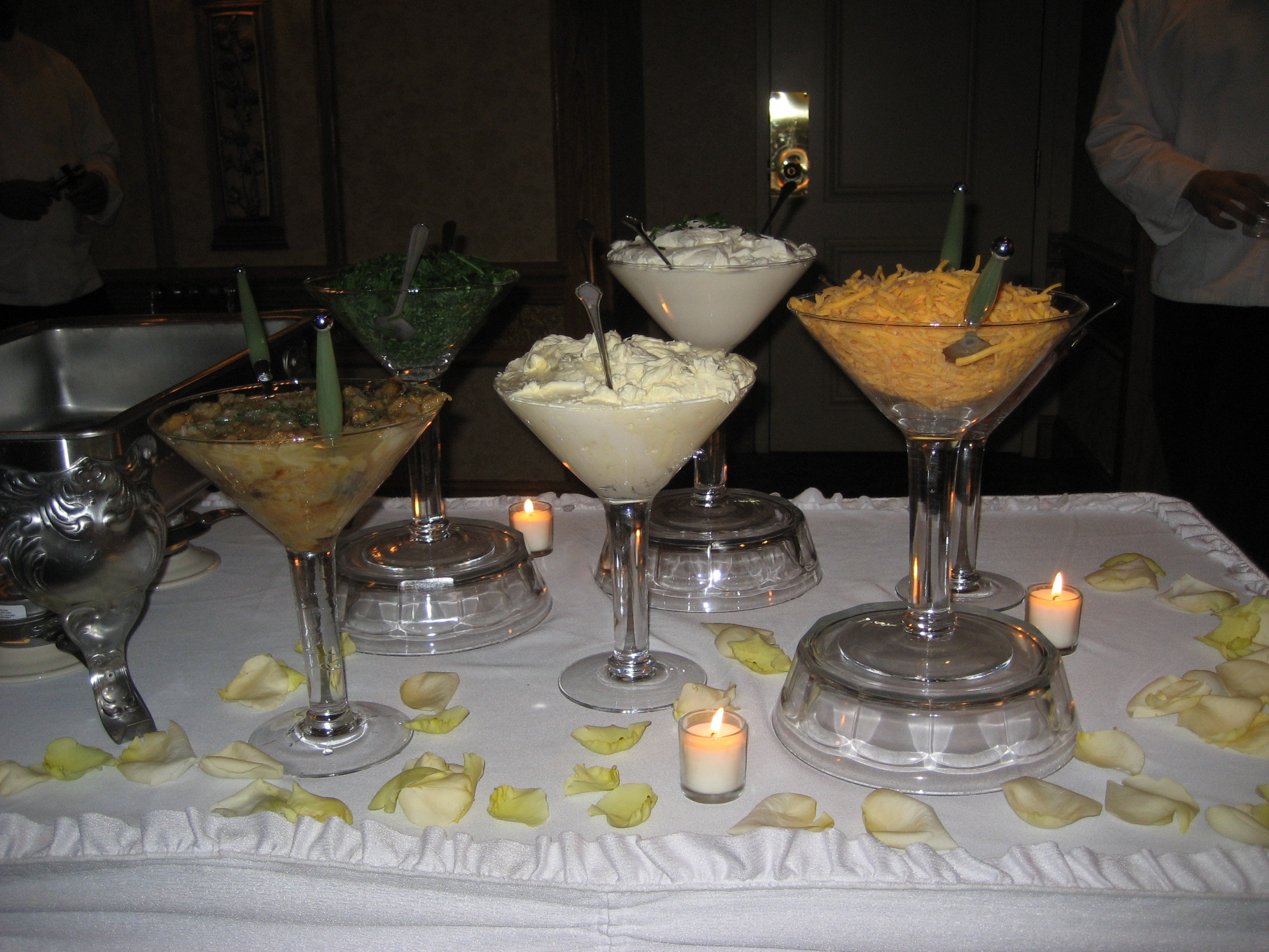 Mashed Potatoes Bar Wedding  Mashed Potato Martini Bar – huge hit
