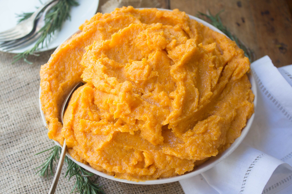 Mashed Sweet Potatoes Recipe Healthy  Spiced Mashed Sweet Potatoes