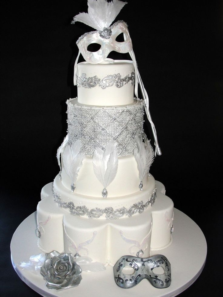 Masquerade Wedding Cakes  287 best Masquerade Cakes images on Pinterest