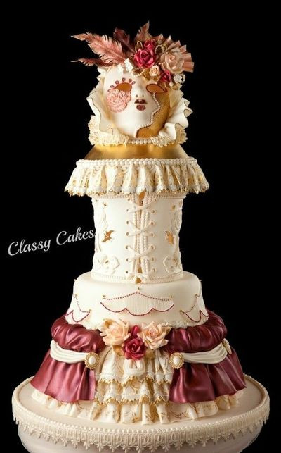 Masquerade Wedding Cakes  Masquerade Ball wedding cakes Juxtapost