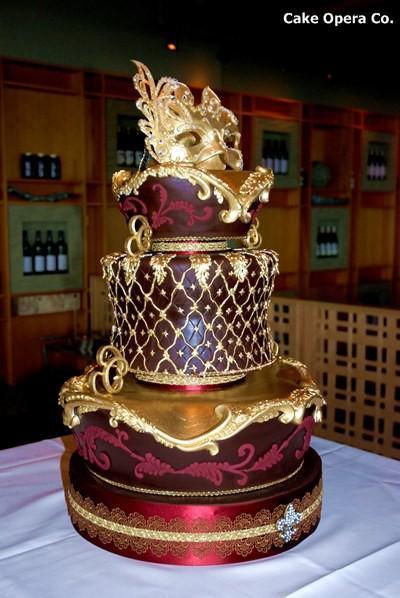 Masquerade Wedding Cakes  Cake Cakes Weddbook