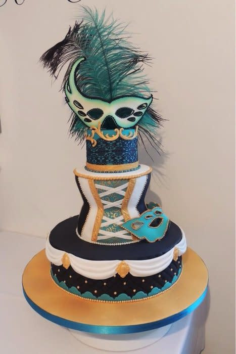 Masquerade Wedding Cakes  Masquerade themed cake Cake by jameela CakesDecor