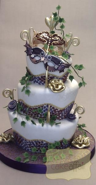 Masquerade Wedding Cakes  Novelty Designs Cake Affair Aberdeen Cakes made to