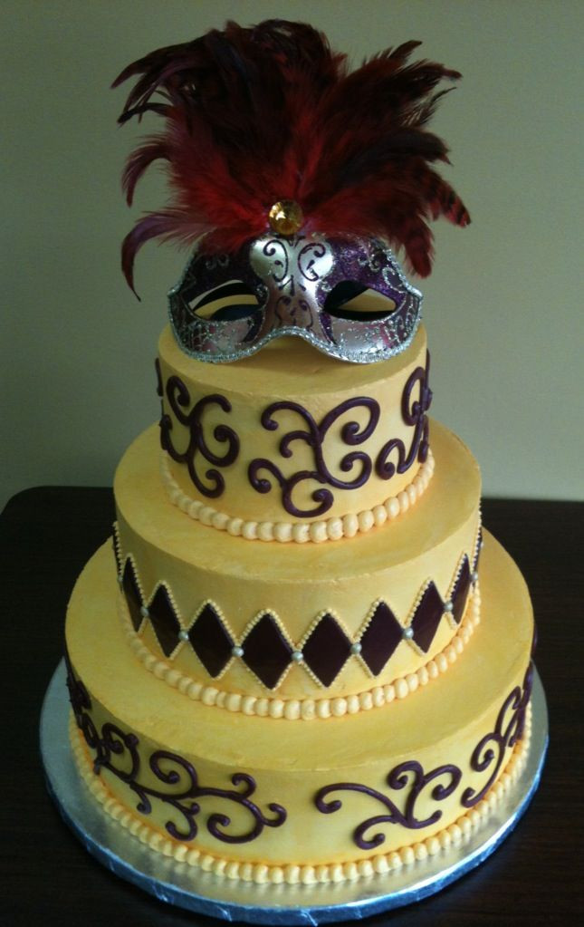 Masquerade Wedding Cakes  A masquerade wedding cake
