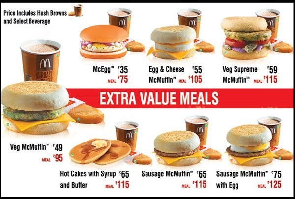 Mcdonalds Healthy Breakfast Menu  Best Breakfast Places Options in Gurgaon for all bud s