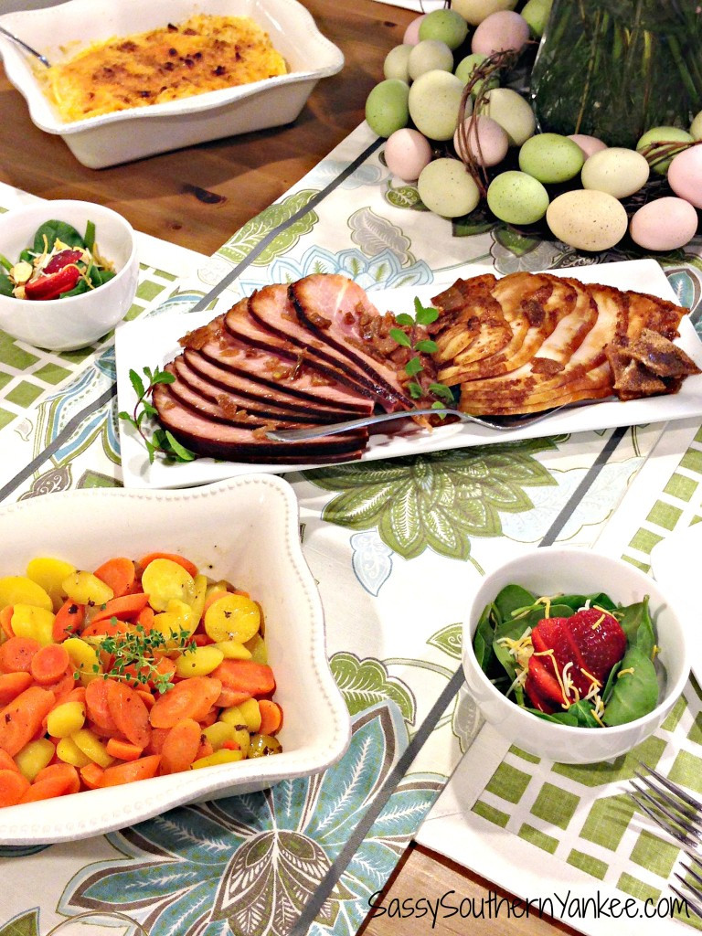 Meat For Easter Dinner  Delicious and Easy Easter Dinner with HoneyBaked Ham
