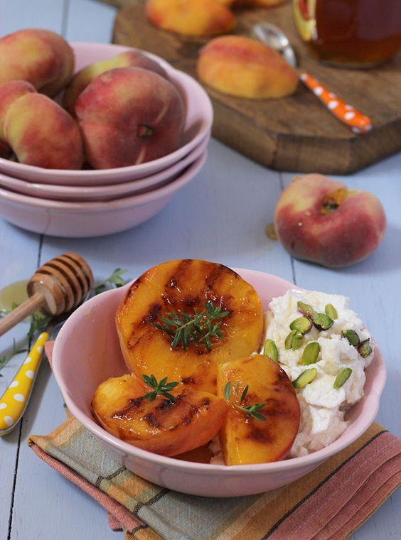 Mediterranean Desserts Healthy  Mediterranean summer breakfast of peaches honey & ricotta