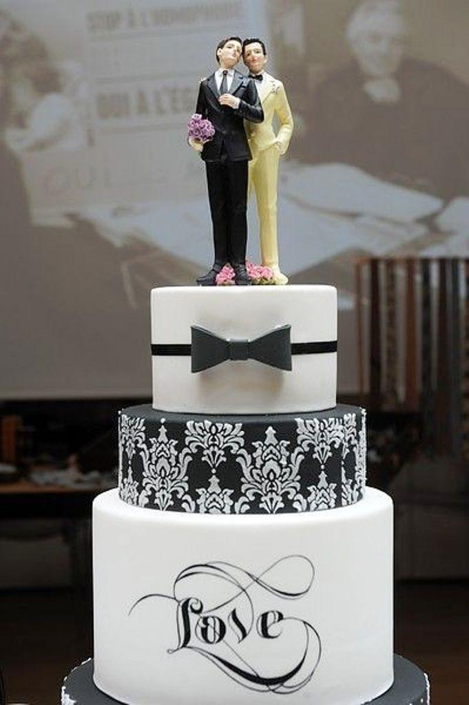 Men Wedding Cakes  Gay Wedding Cake Ideas Wedding and Bridal Inspiration