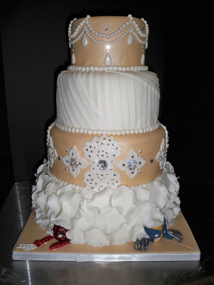 Men Wedding Cakes  1000 images about Hidden Spider Man Wedding Cakes on