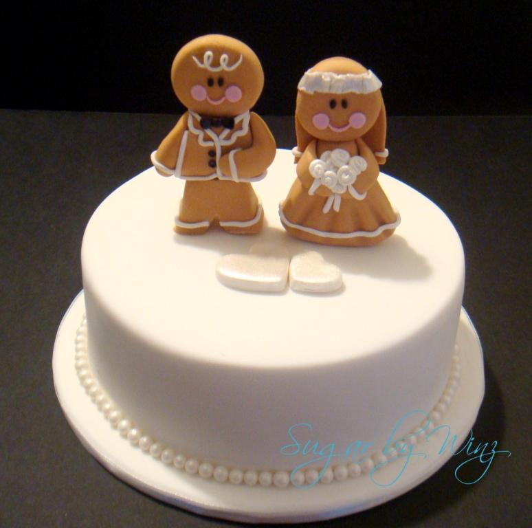 Men Wedding Cakes  Gingerbread men toppers