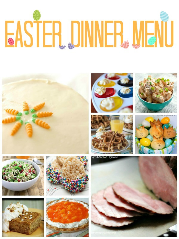Menu For Easter Dinner  It Thursday from Link Party 39 TGIF This